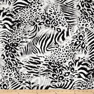 Animal Print Soft Fur Dalmation Black/White - Discount ...