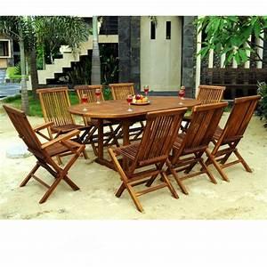 Salon De Jardin En Teck : ensemble de jardin en teck salon 8 places table teck ovale ~ Teatrodelosmanantiales.com Idées de Décoration