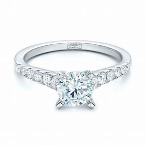 classic tapered diamond engagement ring 101022 With tapered wedding ring
