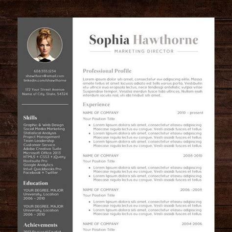 professional resume template  photo modern cv word