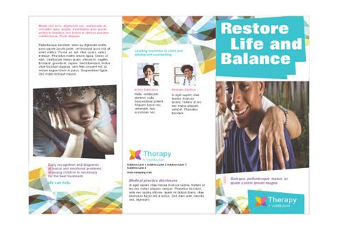 Counseling Brochure Templates Free by Adolescent Counseling Mental Health Print Template Pack