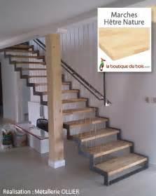 Escalier Discount En Hetre Et Metal by Escaliers Bois M 233 Tal Exemples De R 233 Alisations Sur Mesure