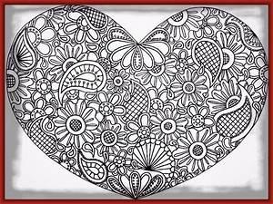 Dibujos Para Imprimir De Corazones Y Mandalas Imagenes