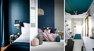 chambre 17 facons d39adopter le bleu With quelle couleur avec le jaune moutarde 18 meuble rangement salle de bain blanc