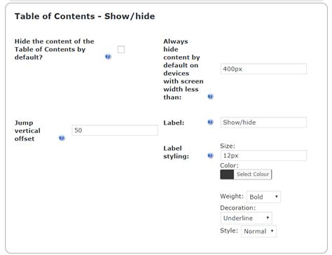 table of contents hide bmx impressive table of contents toc wordpress plugin