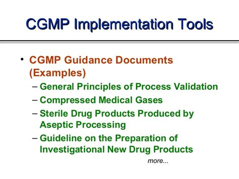 Cgmp In The Usa Training By Cder Fda