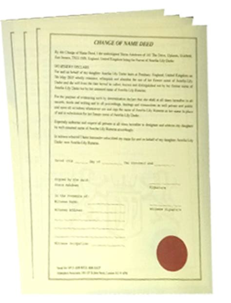 change of name deed poll template home officialdeedpoll