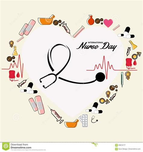 foto de Nurse Day Stock Illustration Image: 69816177