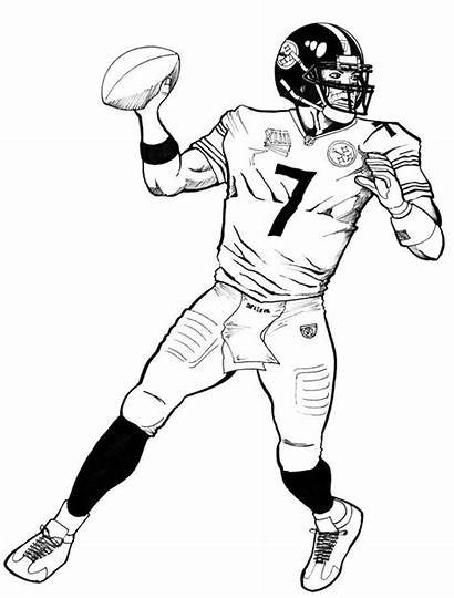 Coloring Pages Bowl Super Quarterback Printable Activities
