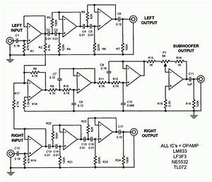 Subwoofer Filter Circuit Using Lm324  U2013 Amplifiercircuits Com