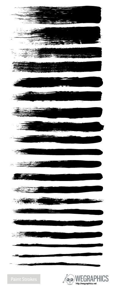Paint stroke brushes vector - Vector Other free download