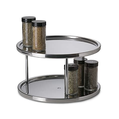 Spice Rack Turntable by Buy Stainless Steel Two Tier Turntable From Bed Bath Beyond