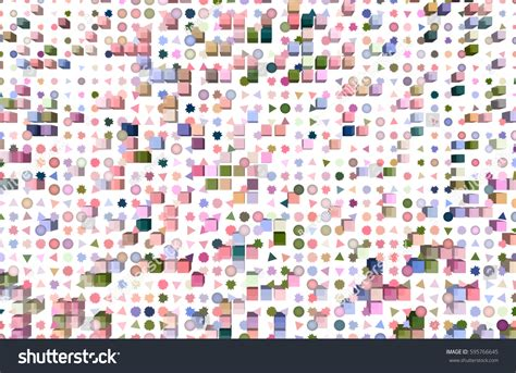 mixed colored rectangle triangle circle ellipse stock illustration 595766645