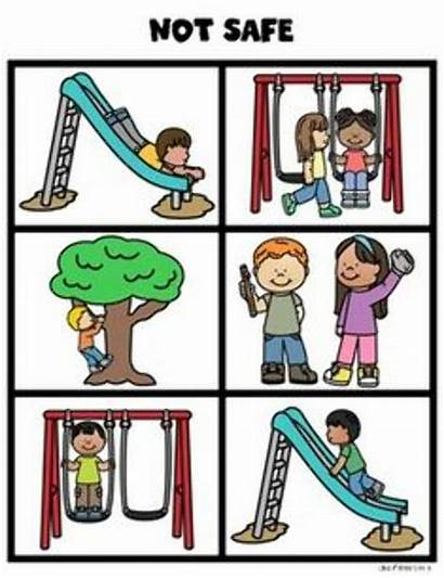 Playground Safety Recess Clipart Cards Kindergarten Rules