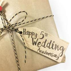 5th wedding anniversary 39 happy 5th wedding anniversary 39 personalised wooden gift tag