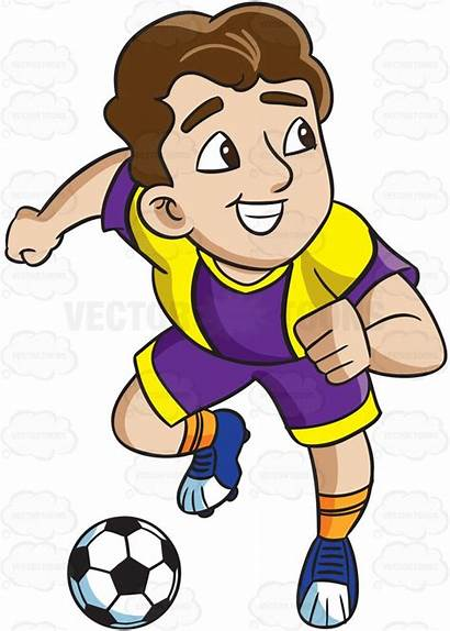 Athlete Clipart Soccer Male Goal Cartoon Charges