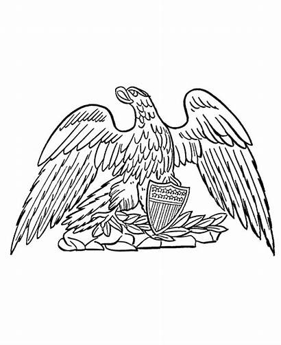 Symbols Coloring American Eagle Pages Printables Usa