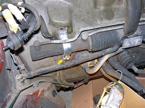 saab ng steering rack clamp  brace
