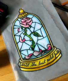 Rose From Beauty and the Beast Tattoo