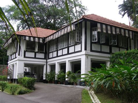 Black-&-white Bungalows Along Temenggong Road Opposite