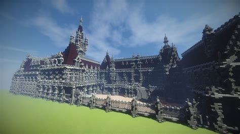 benedictine palace  neo gothic palace minecraft building