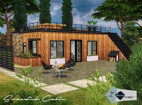 of sims 4 house building small modernity modern wooden cabin sims 4 houses Best