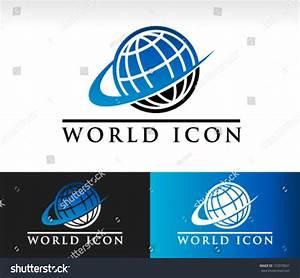 Vector World Logo Icon Swoosh Graphic Stock Vector ...