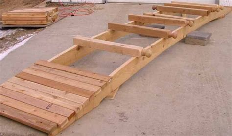 how to build a wooden arch bridge woodworking projects