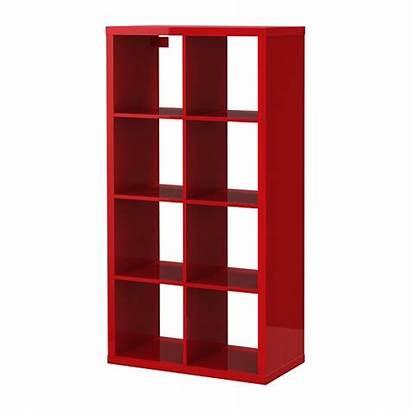 Ikea Shelving Kallax Unit Gloss Shelf Pink