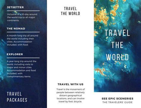 4 Fold Brochure Template 7 Best Sles Templates Customize 89 Travel Brochure Templates Canva