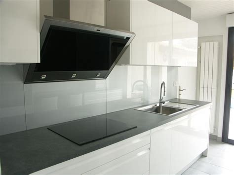 credence cuisine en verre sur mesure le vitrier with credence en verre blanc
