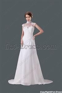 modest high neckline a line wedding gown1st dresscom With modest a line wedding dresses
