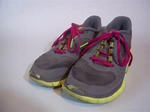 Nike Free Run 3 Gray Grey Pink Fuchsia Neon Green Running ...
