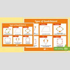 Large Types Of Quadrilateral Poster  Quadrilateral, Poster