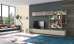 Meuble Mural Salon : le meuble mural salon quelques exemples par alf group ~ Teatrodelosmanantiales.com Idées de Décoration