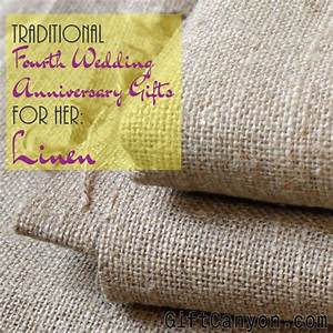 traditional 4th wedding anniversary gifts for her linen With linen gifts for wedding anniversary