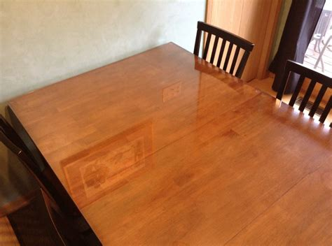 Wooden Tabletop Kitchen by We Put A Glass Top On Our Wooden Kitchen Table Cataldo