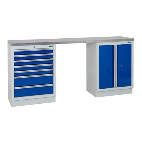 bigdug mm wide workbench  cabinet stainless