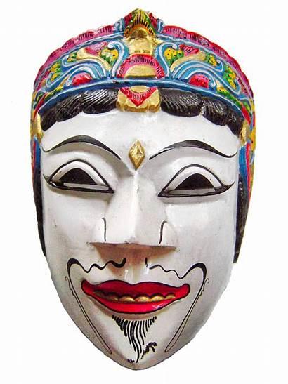 Topeng Gambar Malang Tradisional Indonesia Timur Wayang
