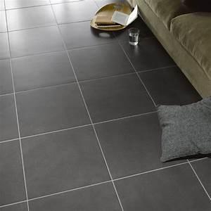 carrelage sol gris magasin leroymerlinguerande With carrelage adhesif salle de bain avec dalle led plafond