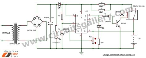 Battery Charger Circuit With Auto Cut Off Circuits