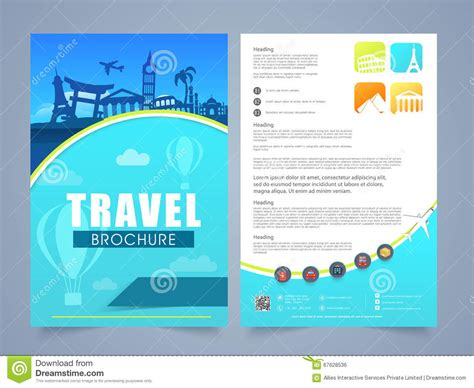 Tourist Brochure Template Free Download travel and tourism brochure templates free the best