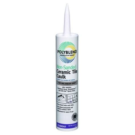 Polyblend Ceramic Tile Caulk by Custom Building Products Polyblend 165 Delorean Gray 10 5