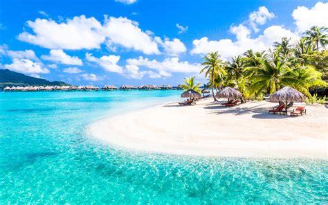 French Polynesia Bora Bora Island Turquoise Sea Coral