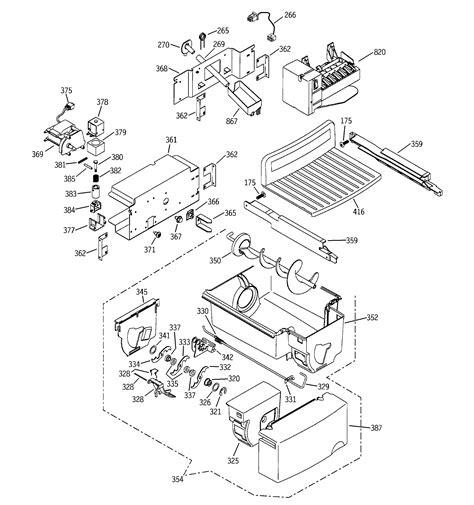 ice maker dispenser diagram parts list  model pssmgmabb ge profile parts refrigerator