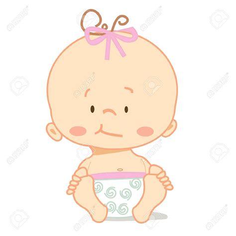 cartoon crawling cute baby vector illustration
