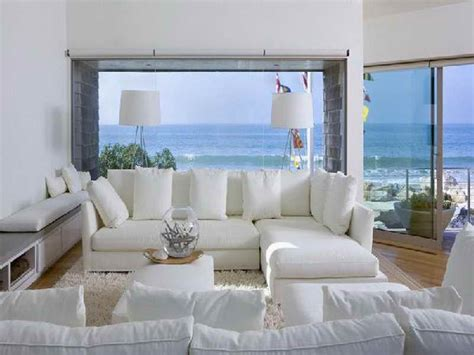 Living Room  Beach House Living Room Ideas With White