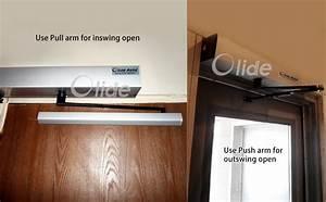 Push Button Swing Door Opener  Remote Control Swing Door