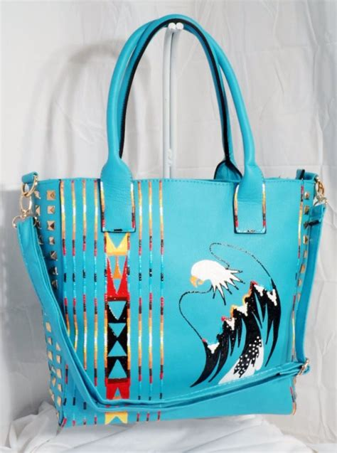 hand painted purse  rez hoofz native style pinterest