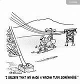 Skiing Ski Trip Cartoon Cartoons Slope Funny Lift Coloring Comics Cartoonstock Template Wrong Turn sketch template